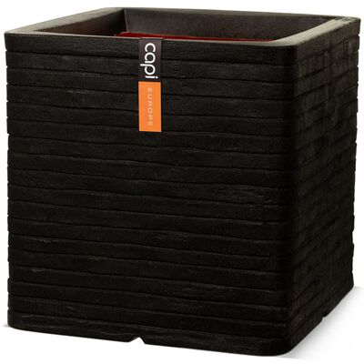Capi Fyrkantig odlingslåda Nature Row 30 x 30 cm svart KBLRO902