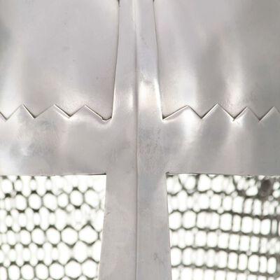 vidaXL Riddarhjälm för LARP replika silver stål