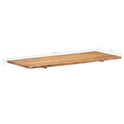 vidaXL Bänkskiva för badrum massivt akaciaträ 140x55x2,5 cm