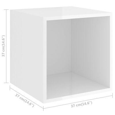 vidaXL Väggskåp 4 st högglans vit 37x37x37 cm spånskiva