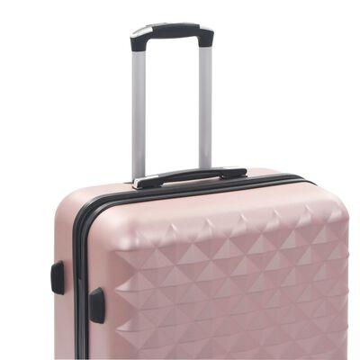 vidaXL Hårda resväskor 3 st roséguld ABS