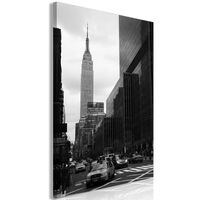 Tavla - Street In New York (1 Part) Vertical - 60x90 Cm