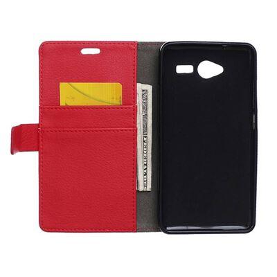 Mobilplånbok 2-kort ZTE Blade L3 Röd
