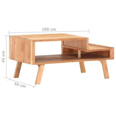 vidaXL Soffbord 100x50x45 cm massivt akaciaträ