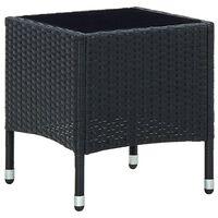 vidaXL Trädgårdsbord svart 40x40x45 cm konstrotting