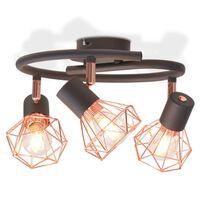 vidaXL Taklampa med 3 LED-filamentlampor 12 W