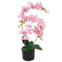 vidaXL Konstväxt Orkidé med kruka 65 cm rosa