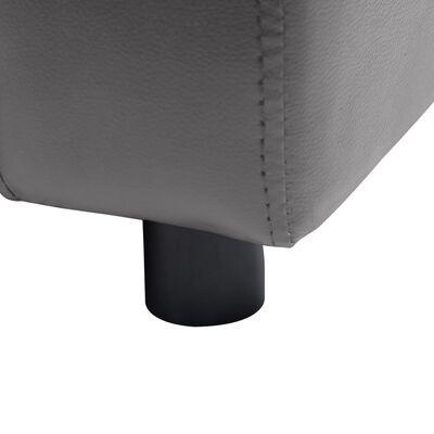 vidaXL Hundsoffa grå 80x50x40 cm konstläder