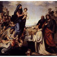 The Vision of St.Bernard,Fra Bartolomeo,50x50cm