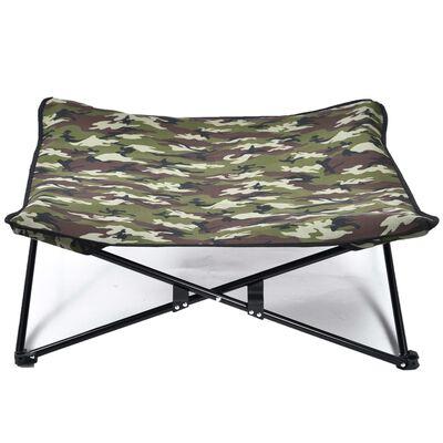 @Pet Hundbädd militärkamouflage grön
