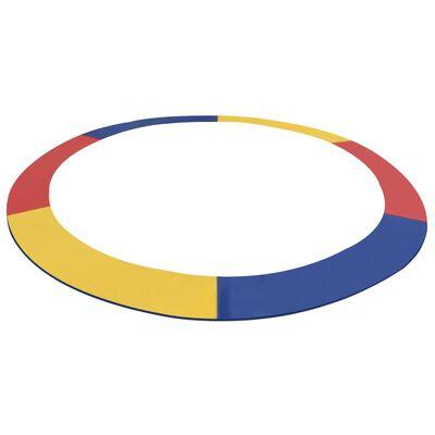 vidaXL Kantskydd PVC flerfärgat för 13 fot/3,96 m rund studsmatta