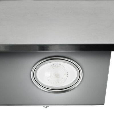 vidaXL Köksfläkt RGB 60 cm rostfritt stål och härdat glas