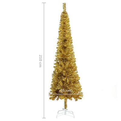 vidaXL Julgran smal guld 210 cm