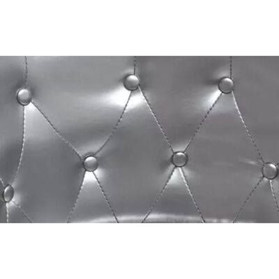 vidaXL Fåtölj silver konstläder