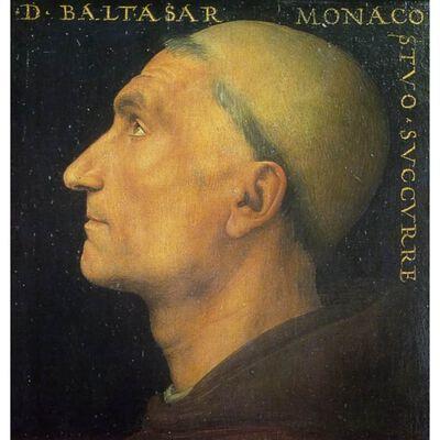 Portrait of Baldassare Vallombrosano,Pietro Perugino,50x50cm