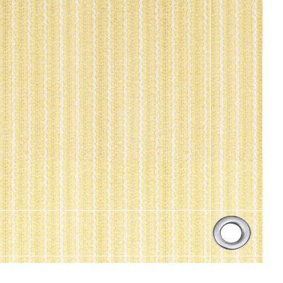 vidaXL Balkongskärm beige 90x500 cm HDPE