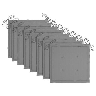 vidaXL Trädgårdsstolar med dynor 8 st massivt akaciaträ