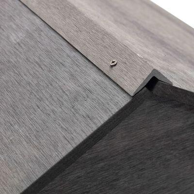 vidaXL Garage för gräsklippare grå 80x80x70 cm WPC
