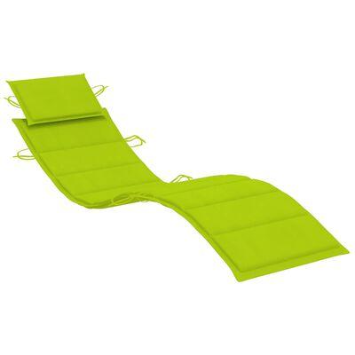 vidaXL Solsängsdyna ljusgrön 186x58x4 cm