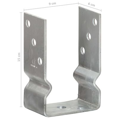 vidaXL Jordankare 2 st silver 9x6x15 cm galvaniserat stål