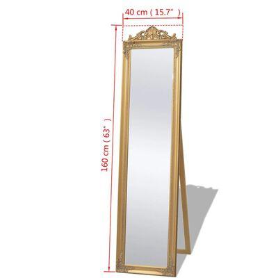 vidaXL Fristående spegel i barockstil 160x40 cm guld