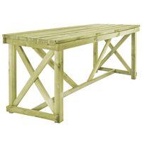 vidaXL Trädgårdsbord 160x79x75 cm trä