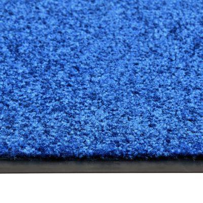 vidaXL Dörrmatta tvättbar blå 60x180 cm