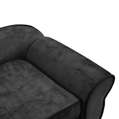 vidaXL Hundsoffa mörkgrå 72x45x30 cm plysch