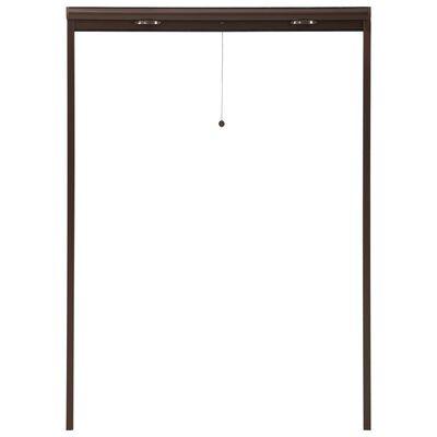 vidaXL Insektsnät för fönster brun 120x170 cm