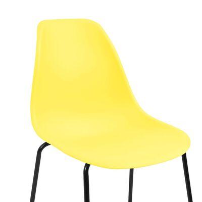 vidaXL Bargrupp 5 delar plast gul