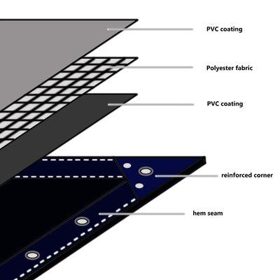 vidaXL Presenning 650 g/m² 1,5x6 m vit