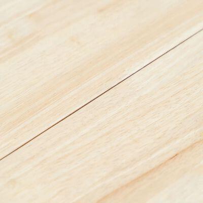 vidaXL Matbord vit och brun 106 cm massivt gummiträ