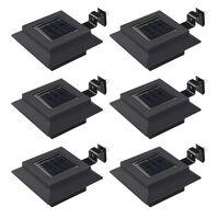 vidaXL Sollampa LED set 6 st fyrkantig 12 cm svart