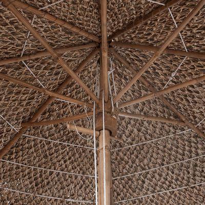 vidaXL Bambuparasoll med bananbladstak 270 cm