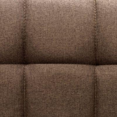 vidaXL Snurrbara matstolar 6 st brun tyg