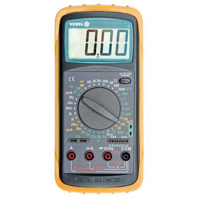 VOREL Digital multimeter med temperaturmätning