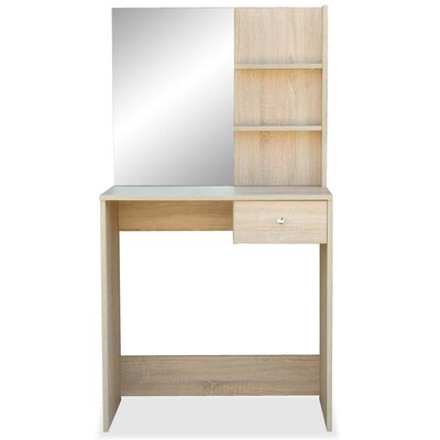 vidaXL Sminkbord spånskiva 75x40x141 cm ek
