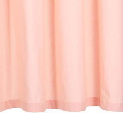 vidaXL Gardiner med metallringar 2 st bomull 140x175 cm rosa