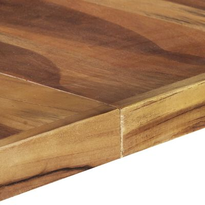 vidaXL Matbord 140x140x75 cm massivt trä med sheshamfinish