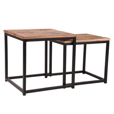 LABEL51 Soffbord 2 st Twain trä/svart