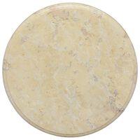 vidaXL Bordsskiva gräddvit Ø40x2,5 cm marmor