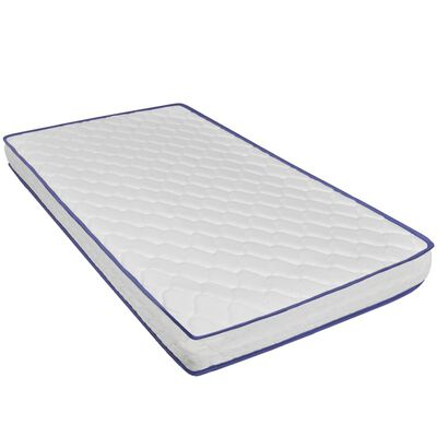 vidaXL Säng med memoryskummadrass grå konstläder 160x200 cm