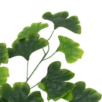 vidaXL Konstgjorda blad ginkgo 10 st grön 65 cm