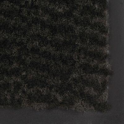 vidaXL Dörrmatta rektangulär tuftad svart 60x90 cm
