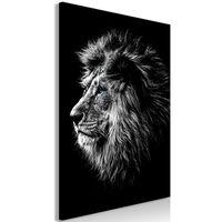Tavla - Blue-eyed Lion (1 Part) Vertical - 60x90 Cm