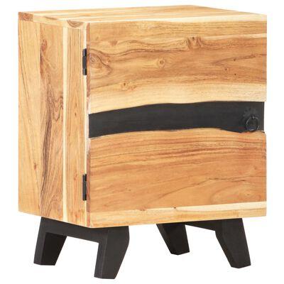 vidaXL Sängbord 40x30x51 cm massivt akaciaträ