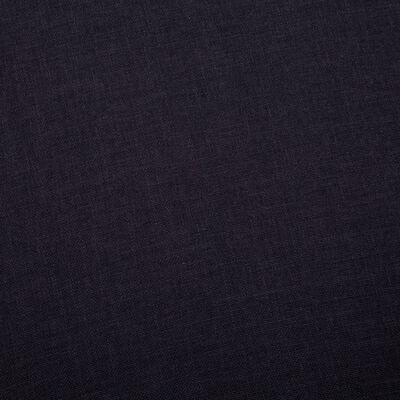 vidaXL 3-sitssoffa tyg svart