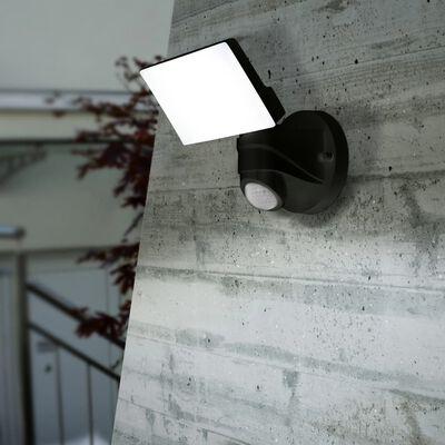EGLO Utomhusvägglampa med sensor LED Pagino 13W svart