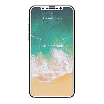 iPhone X Härdat glas Curved Heltäckande Vit 0.26mm