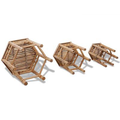 vidaXL Trädgårdspallar 3 st bambu
